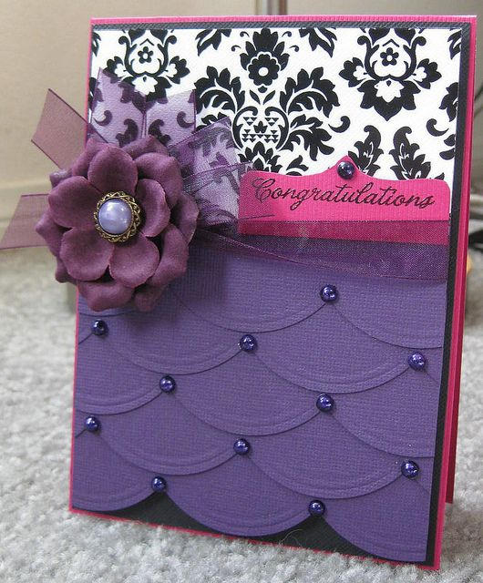 Elegant Congratulations-Paper Crafts Color Inspiration #3 by Cards by Diana, via Flickr