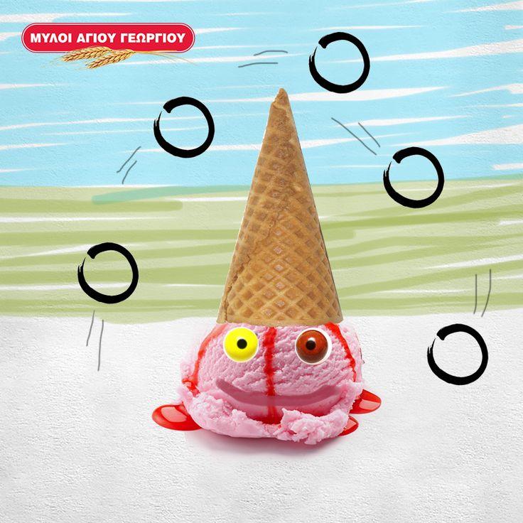 Γνωρίζατε ότι υπάρχει πολύ πιο δημιουργικός και «ασφαλής» τρόπος για να φάει το παγωτό-χωνάκι του, το μικρό σας; Σερβίρετε τη μπάλα του παγωτού σε ένα μικρό πιατάκι, τοποθετήστε από πάνω το χωνάκι, σαν καπελάκι και προσθέστε δύο καραμελάκια πάνω στη μπάλα σαν ματάκια! Το παγωτό-κλόουν είναι έτοιμο και το μικρό σας μπορεί να το φάει εύκολα με το κουτάλι! #myloiagiougeorgiou #icecream #dessert #summer