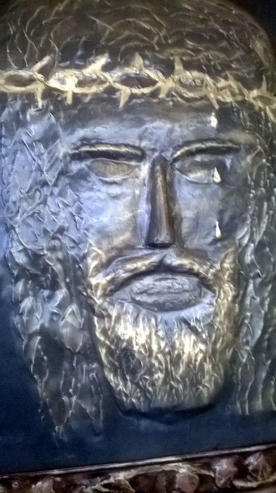 SCULTURA  a sbalzo Gesu in ferro battuto. di artisticwroughtiron, €600.00