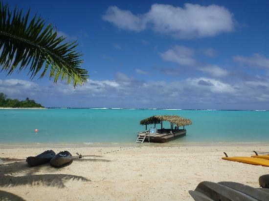 Muri Lagoon - Raratonga, Cook Islands. This was the view from our beach lounger, it really is this beautiful :)