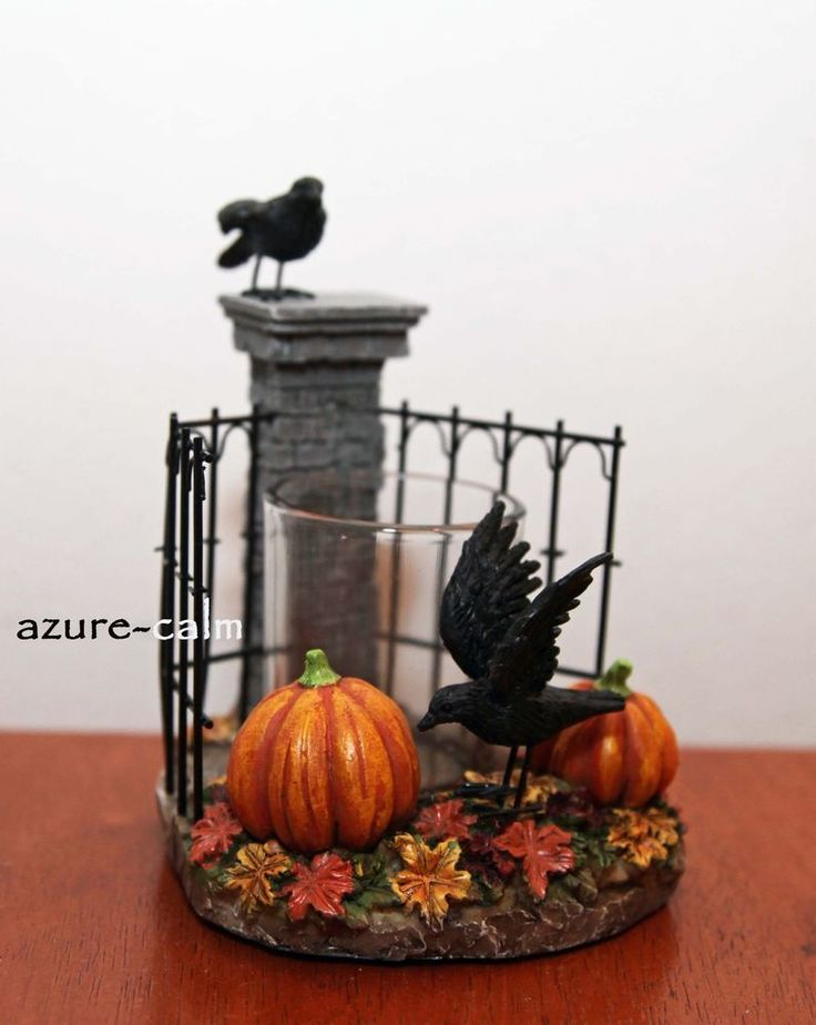 Yankee Candle Spellbound HAUNTED GATE Votive Candle Holder Halloween 2015 Raven #YankeeCandle