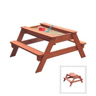 SUN Kindersitzgarnitur mit integriertem Sandkasten aus Holz