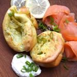 Dill Yorkshire Puddings With Smoked Salmon and Horseradish Cream