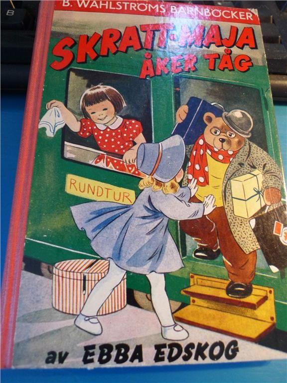 Ebba Edskog / Skratt-Maja åker tåg / Wahlströms barnböcker, 1957