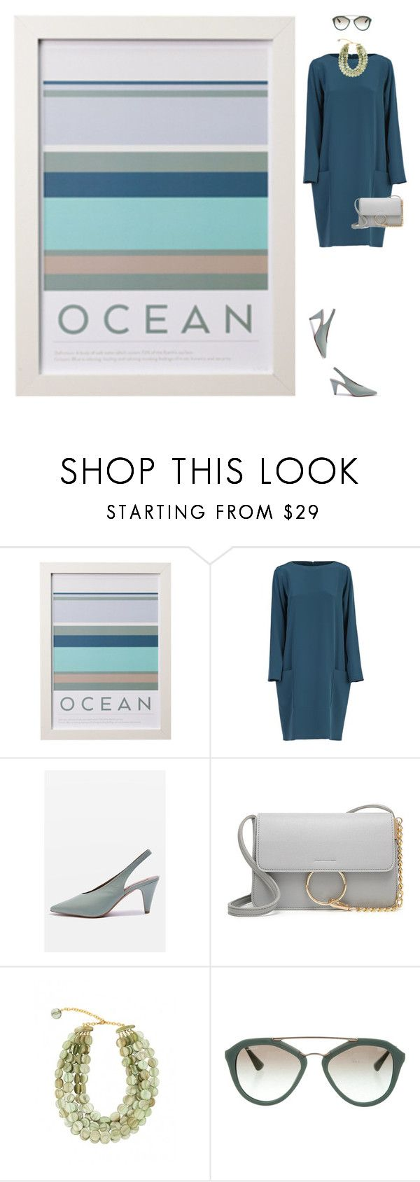 """""""Ocean Palette"""" by rachael-aislynn ❤ liked on Polyvore featuring Gianluca Capannolo, Topshop, Dominique Denaive and Prada"""
