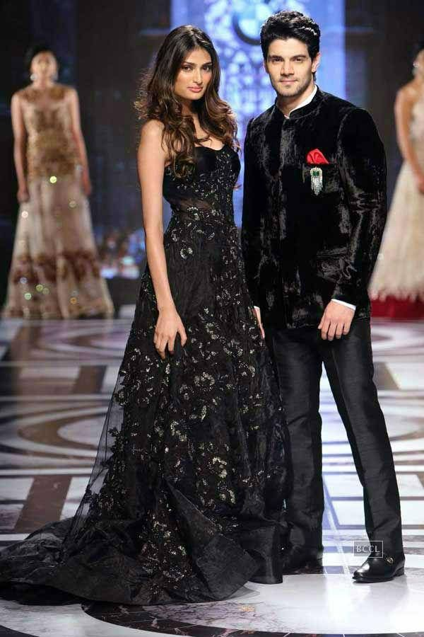 Athiya Shetty and Sooraj Pancholi walk the ramp