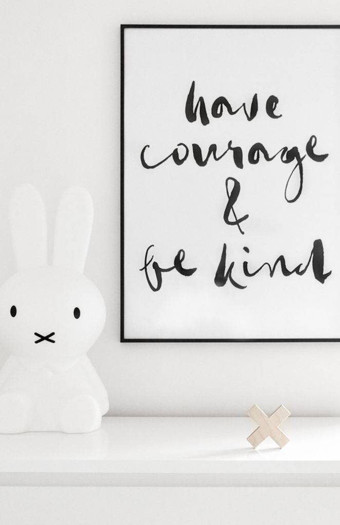 Olive et Oriel Have Courage and Be Kind Print