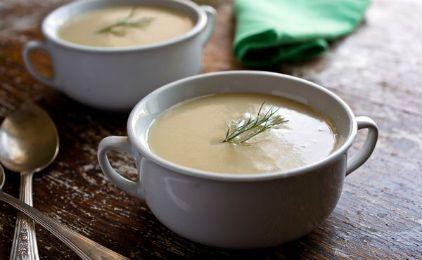 Σούπα βελουτέ με πατάτα, καρότο και πράσο