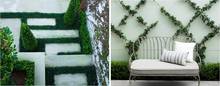 Courtyard bench seat and wall trellis by Sydney's Award winners - Impressions Landscape - Design