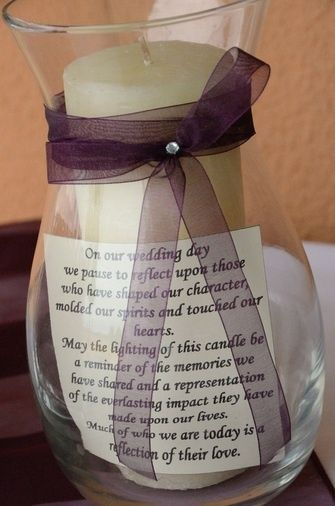 Sweet idea to remember a lost loved one at a wedding. Put on little table at ceremony. :) REMEMBER this.
