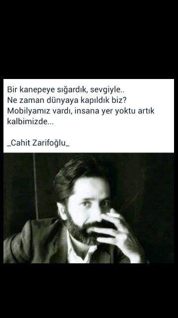 Bir kanapeye sığardık, sevgiyle.. Cahit Zarifoğlu