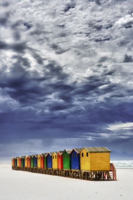 beach hutsCapetown, Long Beach, Beach House, Southafrica, South Africa, Beach Huts, Capes Town, Places, Cape Town