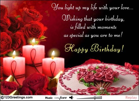 birthday love notes for him | Special Birthday Message! Free Just for Him eCards, Greeting Cards ...