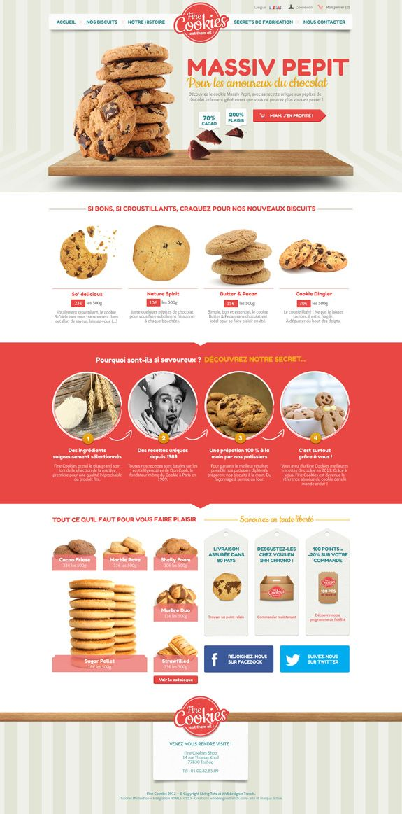 FineCookies Homepage