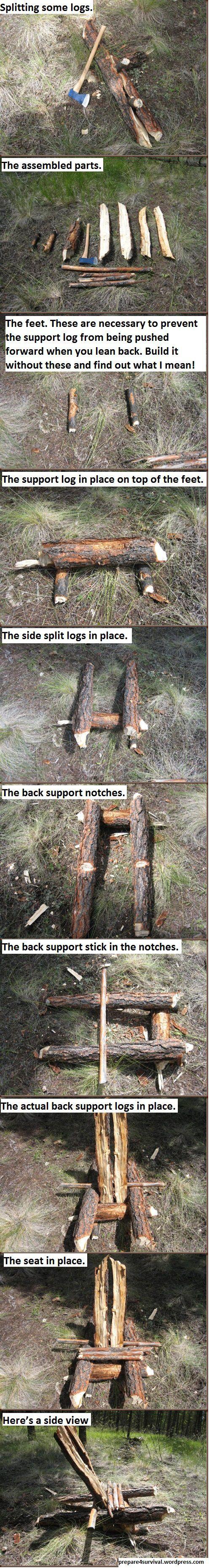 DIY Bushcraft Camp Chair No Cordage Required