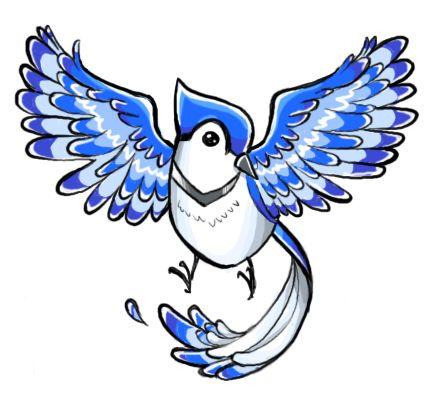 blue jay tattoo design by on deviantart clip art pinterest. Black Bedroom Furniture Sets. Home Design Ideas