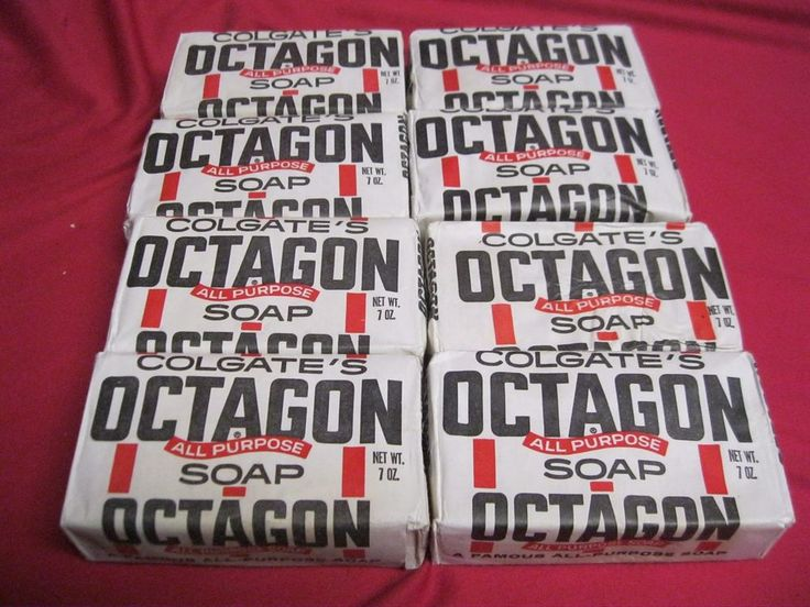 Lot 8 Colgate Octagon All Purpose Soap Bar 7oz #Colgates