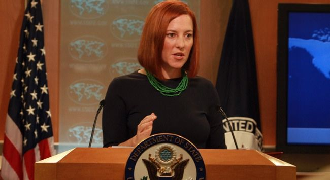 "#US State Department spokesman Jen Psaki, ""We are in active dialogue with #Turkey."""