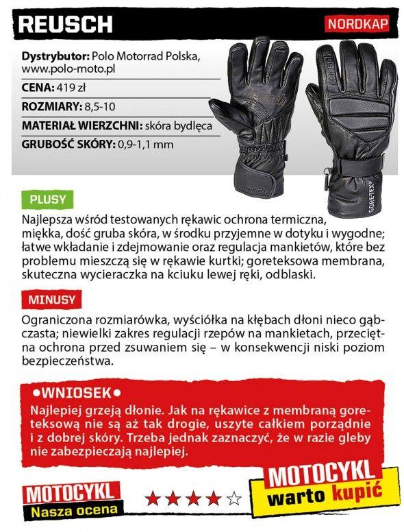 Rękawice na chłodne dni - test 2013 - Motocykl Online - strona 2