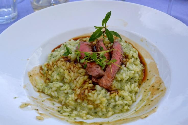 Risotto ortiche e roast beef - Rif. Comici  (Val Gardena) - giugno 2011