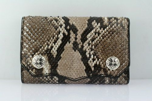 Leather Wallet Genuine Exotic Python Snake by Mygoth (GSW006)
