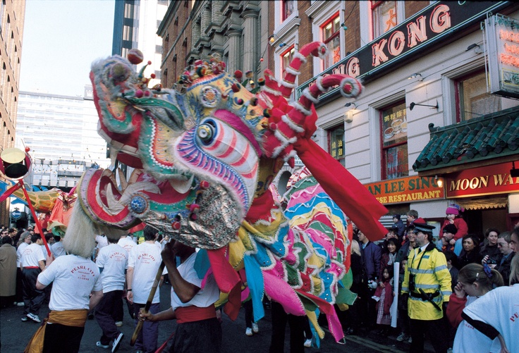 Even the Dragon's dance in Manchester