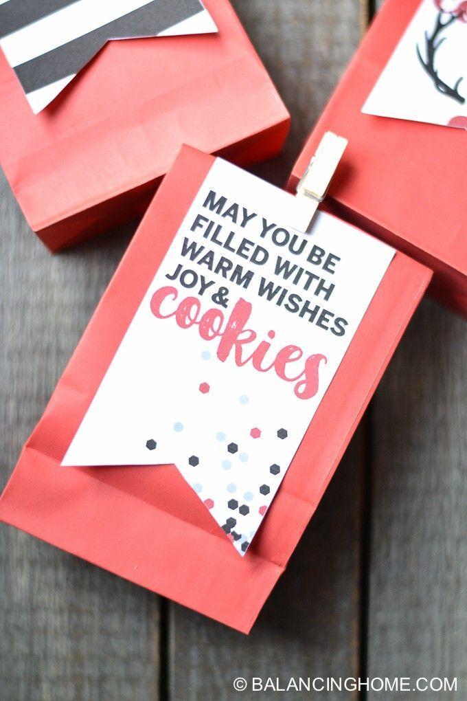 Christmas cookies | Christmas gift | Christmas gift tag | Cookie exchange | printable | Christmas printable | Gift tag