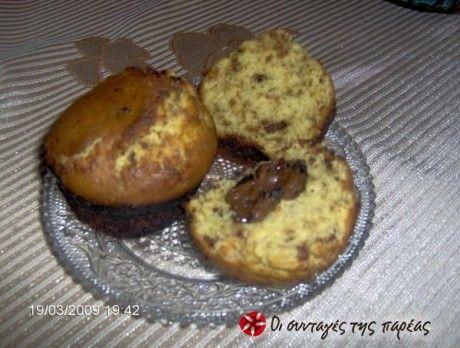 Muffins με γέμιση σοκολάταs