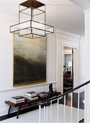 Jennifer Lopez New Jersey home Designed by Thom Filicia  love the light fixture!