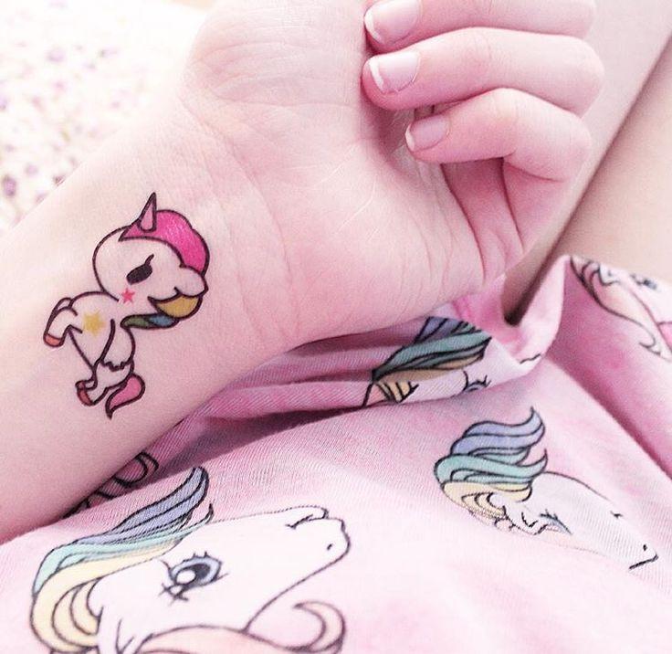 Cute unicorn tattoo. I want this!!!