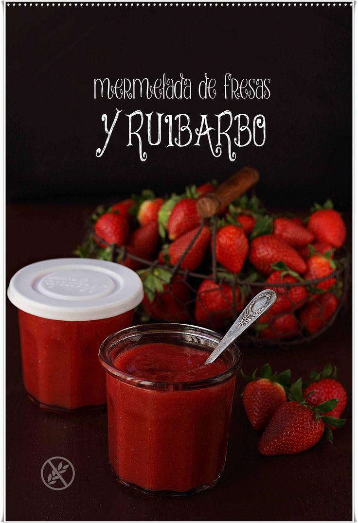 Mermelada de fresas y ruibarbo {by Paula, Con las Zarpas en la Masa}