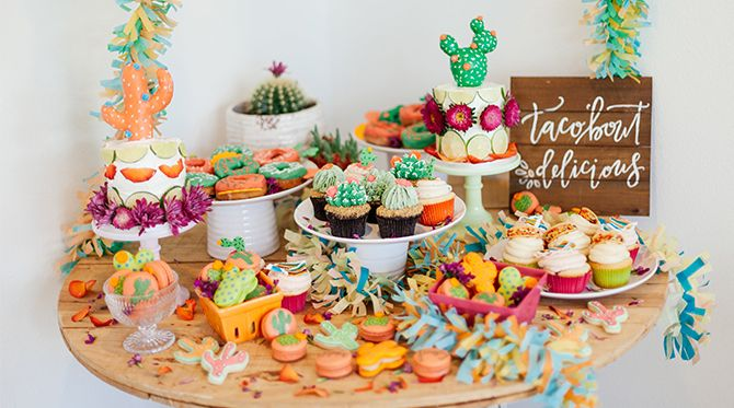 Vibrant Pink & Green Fiesta Birthday Party
