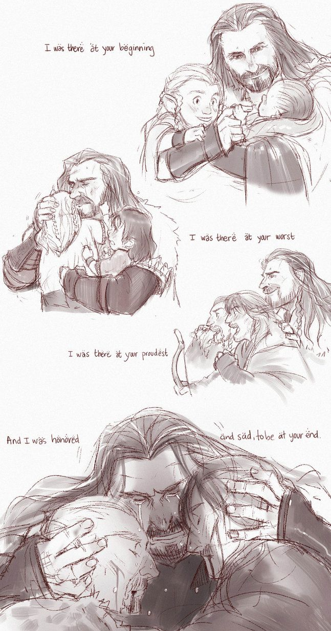 * spoiler* I hope they give fili and Kili honorable deaths during the Battle of Five Armies. This picture made me cry!!  I pay credit and respect that goes to the amazing artist on deviantart.com.  Amazing fan-art! Love this! though it makes me sad...