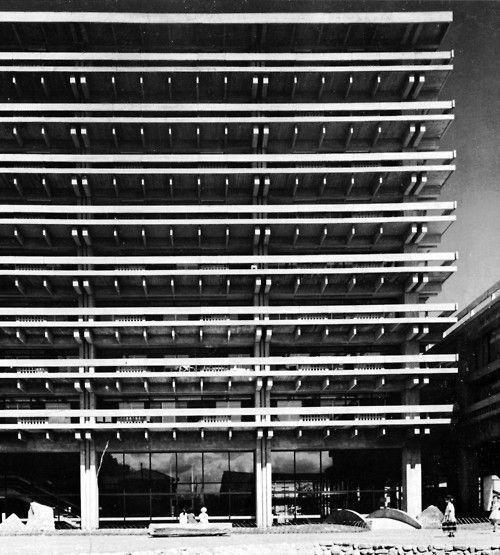 Kagawa Prefecture Administration Building, Takamatsu, Japan - Kenzo Tange, 1955-58