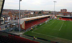 The Crewe Alexandra stadium, where Barry Bennell was a coach.