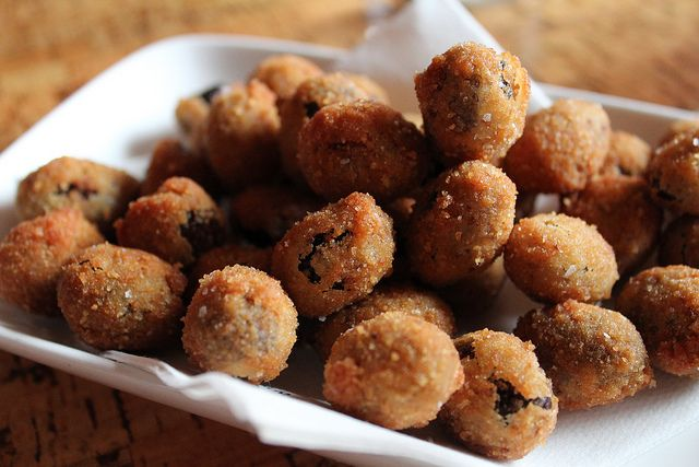 Amazing Appetizer: Fried Ripe Black Spanish Olives | These little fried morsels are Mediterranean comfort food. They're the perfect fun, delectable, and easy appetizer!