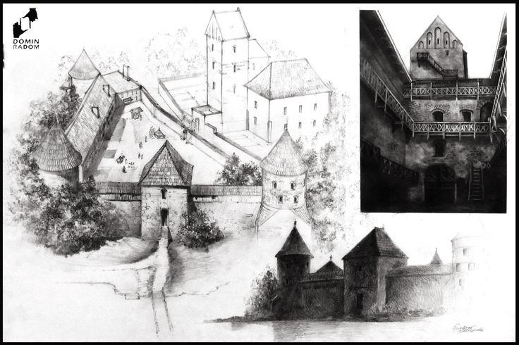Troki castle drawn by Ewelina Konopska in DOMIN Radom rdawing school / Zamek w Trokach narysowany przez Ewelinę Konopską w szkole rysunku DOMIN Radom https://www.facebook.com/DominRadom?fref=ts