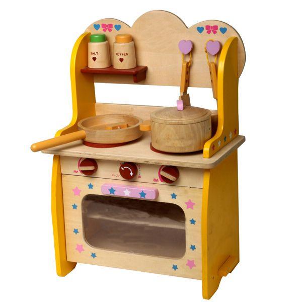 los niños juego de ficción cocinar cocina de madera de juguete