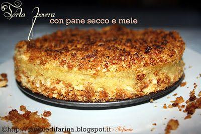 Nuvole di farina: Torta povera con pane secco e mele