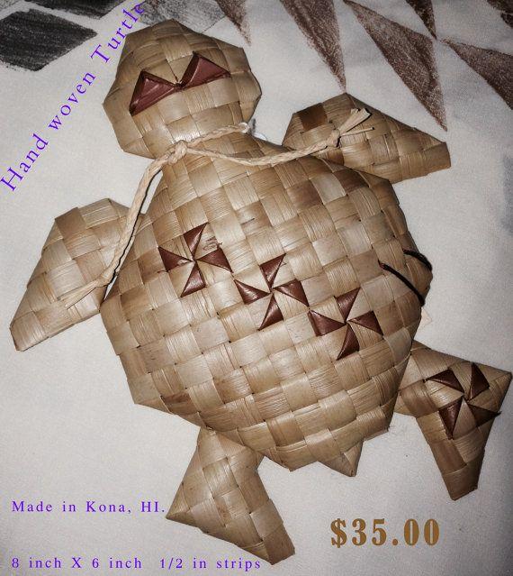 Handmade Turtle 8 x 6... Order No. HONU14 by UlanaLauhala on Etsy, $35.00