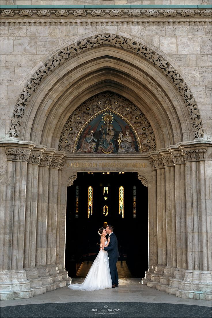 Wedding picture idea in the door of the church