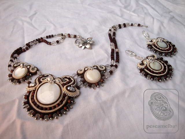 f.c. parure-wood pearls,bohemian glass,pearls,silver- 550,00 euro - 787,60 $