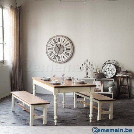 Table et bancs 'maison du monde' - A vendre | 2ememain.be