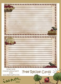 17 Best images about BORDERS- Recipe Cards on Pinterest | The ...
