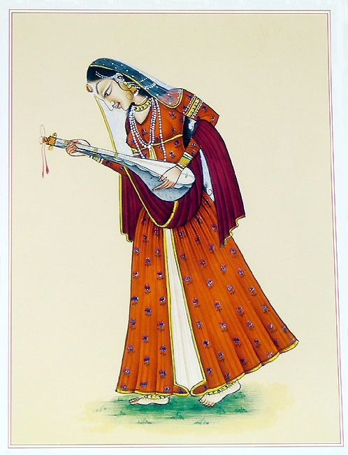 Ragini - Represents Indian Classical Music - Reprint on Paper