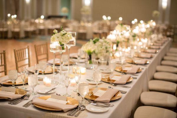 Gold Ivory Wedding Reception | photography by http://justindemutiisphotography.com