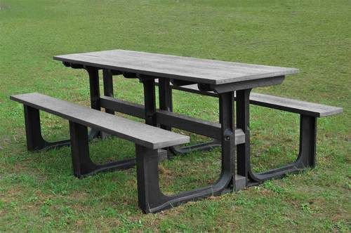 A very long and strong picnic table great for commercial and schools use. Recycled plastic reinforced with steel. Free UK delivery.