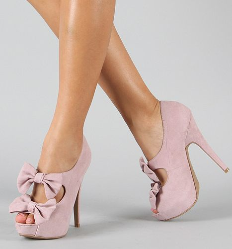 adorable: Fashion Shoes, Bows Ties, Bows Heels, So Cute, Bows Healing, Black Heels, High Heels, Pink Shoes, Girls Shoes