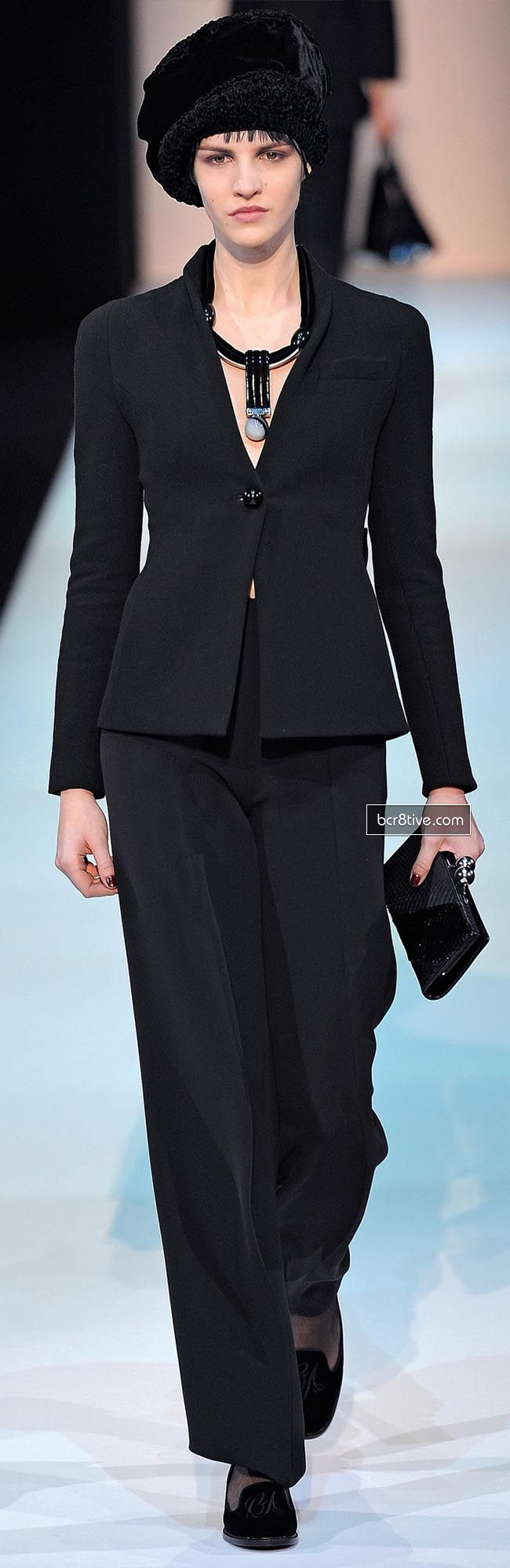 Giorgio Armani Fall Winter 2013-14 Collection. Looks like Downton Abby has influenced the fashions for next season.