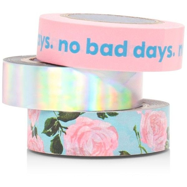 ban.do Stick With It Paper Tape Set ($12) ❤ liked on Polyvore featuring home, home decor, office accessories, multi, paper tape, colored paper tape, colored tape and stick tape